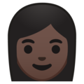 Woman: Dark Skin Tone on Google Android 9.0