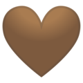 Brown Heart on Google Android 10.0