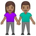 Woman and Man Holding Hands: Medium Skin Tone on Google Android 10.0