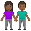 Woman and Man Holding Hands: Medium-Dark Skin Tone on Google Android 10.0