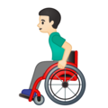 Man in Manual Wheelchair: Light Skin Tone on Google Android 10.0