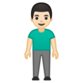 Man Standing: Light Skin Tone on Google Android 10.0