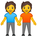 People Holding Hands on Google Android 10.0