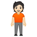 Person Standing: Light Skin Tone on Google Android 10.0