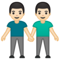 Men Holding Hands: Light Skin Tone on Google Android 10.0