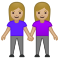 Women Holding Hands: Medium-Light Skin Tone on Google Android 10.0