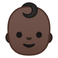 Baby: Dark Skin Tone on Google Android 10.0