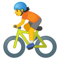 Person Biking on Google Android 10.0