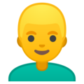Man: Blond Hair on Google Android 10.0