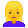 Woman: Blond Hair on Google Android 10.0
