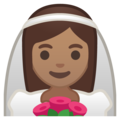 Person With Veil: Medium Skin Tone on Google Android 10.0