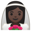 Bride With Veil: Dark Skin Tone on Google Android 10.0