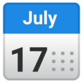 Calendar on Google Android 10.0