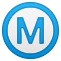 Circled M on Google Android 10.0