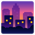 Cityscape at Dusk on Google Android 10.0
