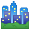 Cityscape on Google Android 10.0