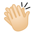 Clapping Hands: Light Skin Tone on Google Android 10.0