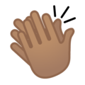 Clapping Hands: Medium Skin Tone on Google Android 10.0