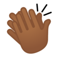 Clapping Hands: Medium-Dark Skin Tone on Google Android 10.0