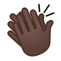 Clapping Hands: Dark Skin Tone on Google Android 10.0