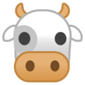 Cow Face on Google Android 10.0