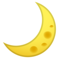 Crescent Moon on Google Android 10.0