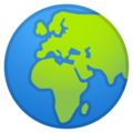 Globe Showing Europe-Africa on Google Android 10.0