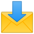 Envelope with Arrow on Google Android 10.0