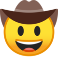 Cowboy Hat Face on Google Android 10.0