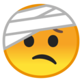 Face With Head-Bandage on Google Android 10.0
