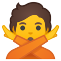 Person Gesturing No on Google Android 10.0
