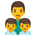 Family: Man, Boy, Boy on Google Android 10.0