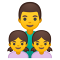 Family: Man, Girl, Girl on Google Android 10.0
