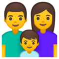 Family: Man, Woman, Boy on Google Android 10.0