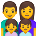Family: Man, Woman, Girl, Boy on Google Android 10.0