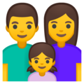 Family: Man, Woman, Girl on Google Android 10.0