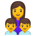 Family: Woman, Boy, Boy on Google Android 10.0