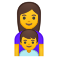 Family: Woman, Boy on Google Android 10.0