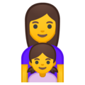 Family: Woman, Girl on Google Android 10.0