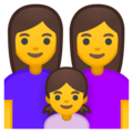 Family: Woman, Woman, Girl on Google Android 10.0