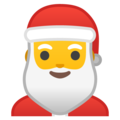 Santa Claus on Google Android 10.0
