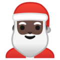Santa Claus: Dark Skin Tone on Google Android 10.0