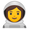 Woman Astronaut on Google Android 10.0