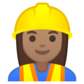Woman Construction Worker: Medium Skin Tone on Google Android 10.0