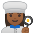 Woman Cook: Medium-Dark Skin Tone on Google Android 10.0