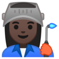 Woman Factory Worker: Dark Skin Tone on Google Android 10.0