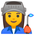 Woman Factory Worker on Google Android 10.0
