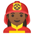 Woman Firefighter: Medium-Dark Skin Tone on Google Android 10.0