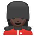 Woman Guard: Dark Skin Tone on Google Android 10.0