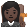 Woman Judge: Dark Skin Tone on Google Android 10.0